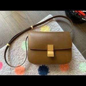 CELINE MEDIUM CLASSIC BAG IN BOX CALFSKIN